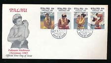 Weihnachtsmarken 1985 Palau auf Ersttagsbrief, Christmas 1985  (B5)