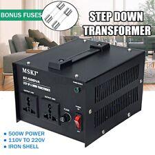 110V 220V Step Up & Down Voltage Converter Transformer Heavy Duty for 500W UK