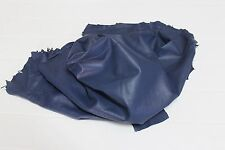 Italian soft Lambskin leather hide hides skin skins BLUE 5+sqf #A2485