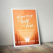 Limited Edition Print Orange Art Posters