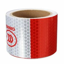 2 inch x 10ft 3 Meters Night Reflective Safety Warning white red Tape Strip R3N4