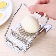 Boiled Egg Slicer Stainless Steel Cutter Chopper Kitchen Tool Tomato New