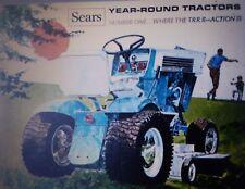 Sears Suburban Custom Lawn Garden Tractor 1967 COLOR Sales Brochure Riding Mower