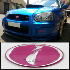 02-05 Subaru pink i logo Front Grill Emblem Badge WRX STI Impreza Grille JDM