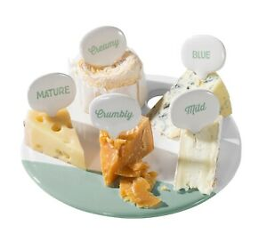 Cheese Platter Board With Cheese Markers Ceramic Cheese Serving Set Jamie Oliver
