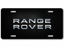 Range Rover LAND ROVER Aluminum Car Auto License Plate British Carbon Fiber Dark