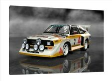Audi S1 Quattro - 30x20 Inch Canvas - Framed Picture Group B Rally Art