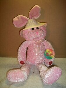 """PBC Chantilly Lane Musicals ~ 22"""" Chenille Singing Easter Bunny ~ w/Tag"""