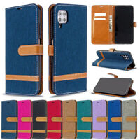 Jeans Wallet Leather Flip Cover Case For Huawei P40 Lite Y6P Y5P Y7P P Smart Z