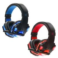 USB 3.5mm Gaming Headsets MIC LED Earphones Headphones for PC Laptop Gamers
