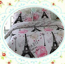 Pink Paris ~Eiffel Tower~ King Size Quil Cover Set New
