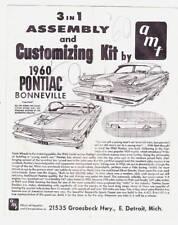 1960 PONTIAC BONNEVILLE instruction sheet only from AMT model car kit.