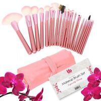 22pcs Professional Soft Cosmetic Makeup Brush Set Pink + Pouch Bag Case