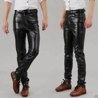 NOORA  Genuine Soft Lambskin Leather Mens Biker Pants Slim Fitting Swagger NI-8