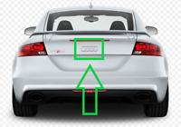 New OEM AUDI TTRS Coupe Roadster Trunk Chrome Emblem Badge Logo 8J0853742A 2ZZ