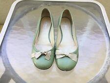 Miu Miu Mint Green Ballet Flats with Bow SZ 37