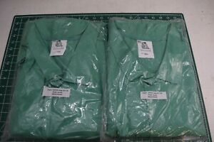 "Lot of 2 Steiner 30"" Green Welding Fire Retardant Jacket Size 5X 9 oz cotton"