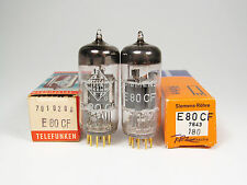 2 x NOS E80CF-7643-SIEMENS/TELEFUNKEN-MADE BY TELEFUNKEN-OWN BOXES-DIAMONDS
