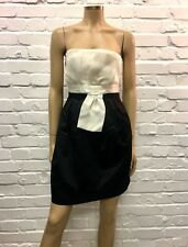 Tara Jarmon Stunning Monochrome Bustier Cocktail Dress UK 12
