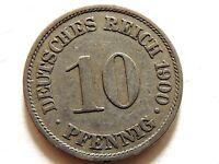 1900-A German Ten Pfennig Coin