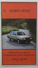 1986 old vintage OS Ordnance Survey of Ireland half-inch map 15 Galway - Offaly