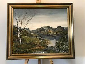 """F Owen """"North Wales"""" Oil On Canvass"""