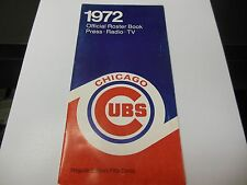 1972 CHICAGO CUBS MLB BASEBALL OFFICIAL MEDIA GUIDE ROSTER BOOK RARE