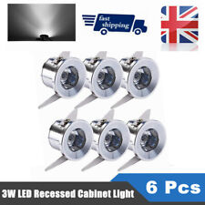 6 x 3w LED Recessed Small Ceiling Light Mini Cabinet Lamp Down Light Cool White