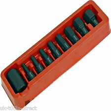 "9pc Hex Allen Key Bit Set 1/2"" Drive zócalo 6 - 19mm S2 De Acero"