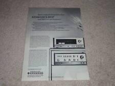 Kenwood Annuncio, 1973, KT-8005 Sintonizzatore, KA-8004 Amp, Specifiche