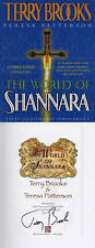 Terry Brooks SIGNED AUTOGRAPHED The World Of Shannara *MUST SEE* HC Brand New