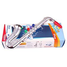 BONTEMPI SX3931 Kinder Saxophon Saxofon silber Kunststoff farbige Lerntasten