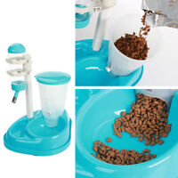 Cat Dog Pet Water Automatic Drinker Dispenser Food Stand Feeder Dish Bowl Bottle