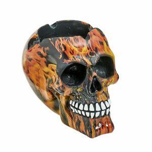 skull flame design ashtray