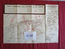 N°12101 / carte touristique de l'algerie et du Sahara Chemins de Fer