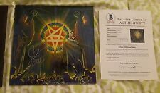 Anthrax signed vinyl LP record For All Kings  Beckett / BAS LOA #A09148