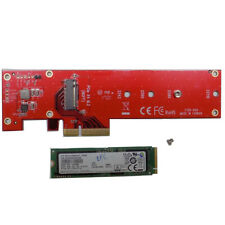 Samsung 961 256GB NVMe M.2 PCIe SSD with StarTech x4 PCIe to M.2 SSD Adapter