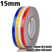 15mm Reflective Safety Pinstripe Stripe Vinyl Tape Sticker Self-Adhesive 45m Car