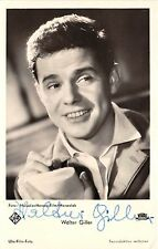 B82783 walter giller  movie star autograph front/back scan