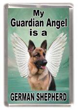 "German Shepherd Dog Fridge Magnet ""My Guardian Angel is a ...."" by Starprint"