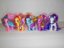 MY LITTLE PONY Lot of Figures Hasbro MLP Capes Crowns Rarity Fluttershy VGUC