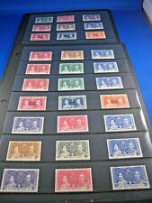 BRITISH OMNIBUS  -  9 COUNTRIES - 1937 CORONATION   MNH