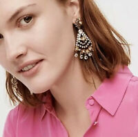 J.Crew CRYSTAL FLOWER STATEMENT EARRINGS! Nwt New$75 Crystal ❤️ With J.Crew Bag!