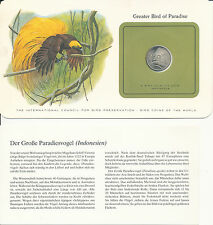 Bird coins of the World - Indonesien 50 Rp. 1971 UNC - Greater Bird of Paradise