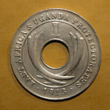 East Africa 1 Cent 1913 Almost Uncirculated Coin - King George V ***Key Date