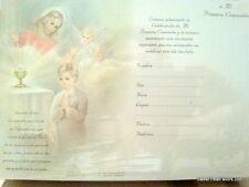 Invitations First Communion Spanish Primera Comunion baptism Party 12 Boy Girl *