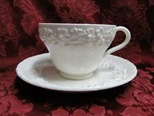 Wedgwood Queensware Cream on Cream Shell Edge: Cup and Saucer Set (s), 2.5""