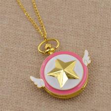Sakura Kinomoto Star Shaped Anime Pocket Watch Necklace Cute Jewelry Acessories
