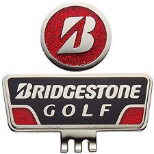 BRIDGESTONE JAPAN Golf Cap Clip Ball Marker GAG401 Black Red