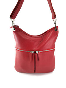 LONGCHAMP Le Foulonne Red Leather Cross-Body Bag